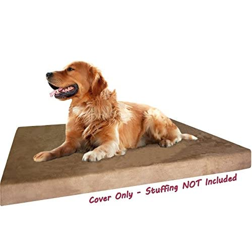 Dogbed4less DIY Durable Brown MicroSuede Pet Bed External Duvet Cover