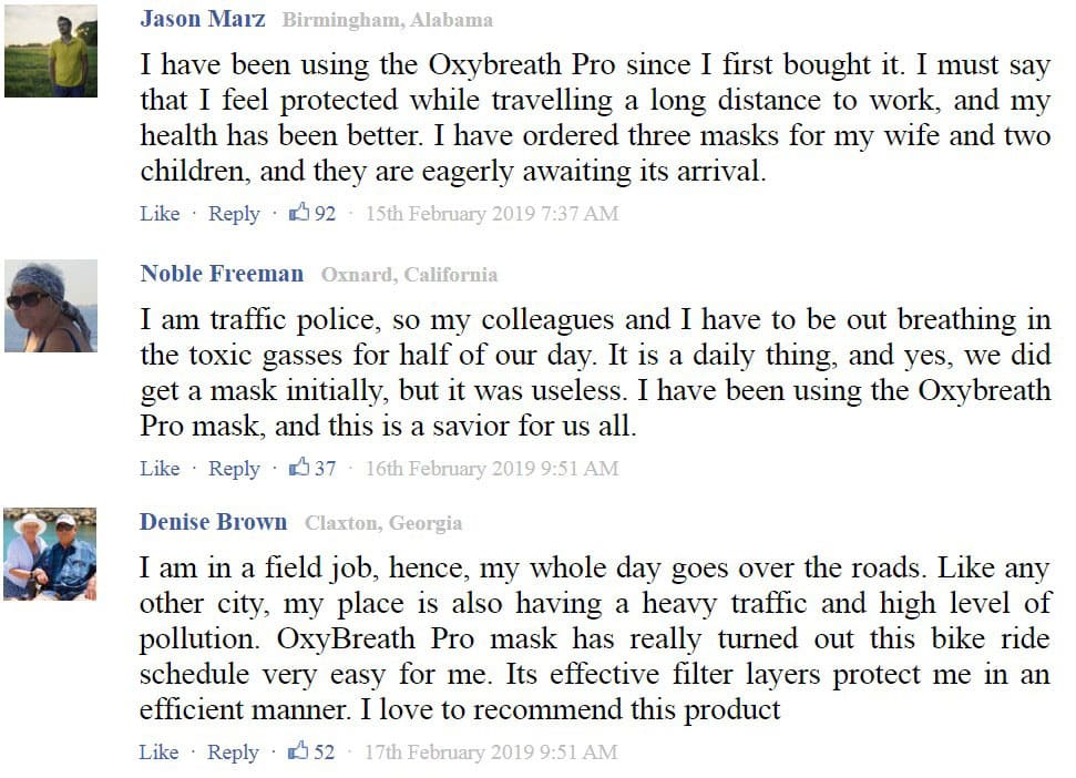 Customer Reviews For OxyBreath Pro