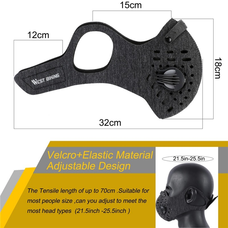 Carbon Anti Dust Filter Mask