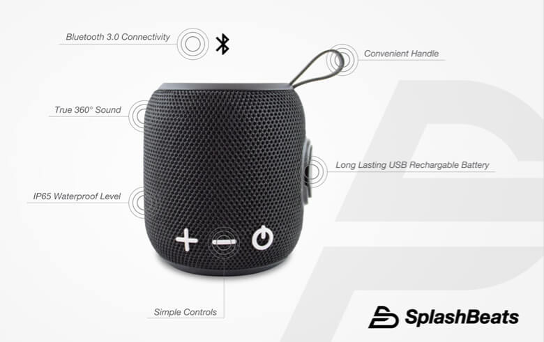Features of Splashbeats Waterproof Speaker